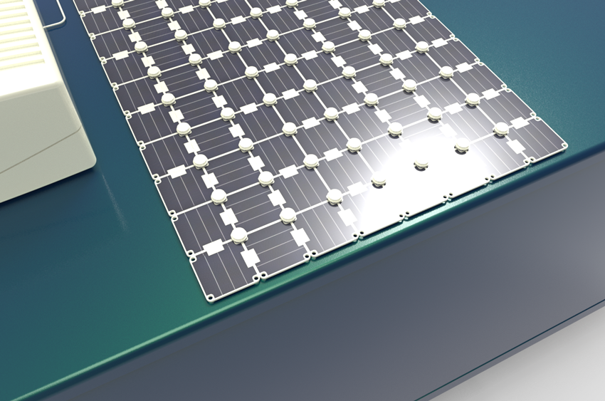 Square Solar panels backside